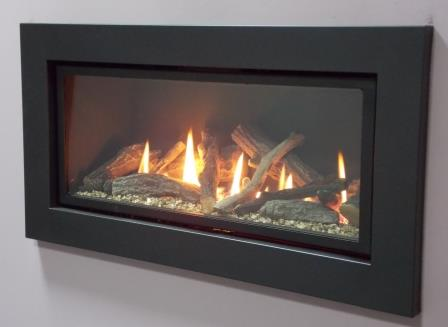 Ignite Black Pinnacle 800 Gas Fire Specification